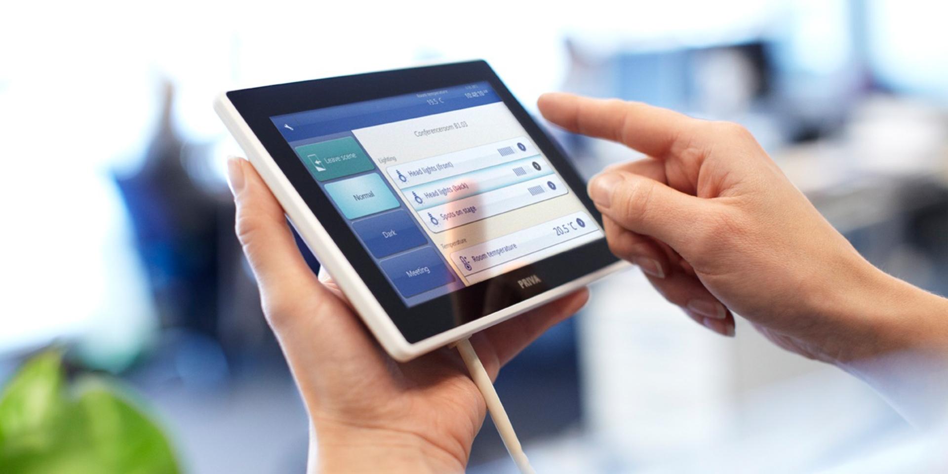 gebouwautomatisering via priva tablet